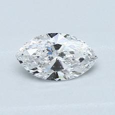 0.50-Carat Marquise Diamond Very Good D SI1