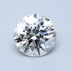 1.00-Carat Round Diamond Ideal I VS2