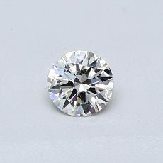 Piedra recomendada 4: Diamante redondo de0,30 quilates