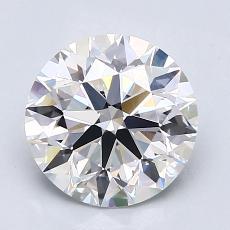 2.08-Carat Round Diamond Ideal D VVS2