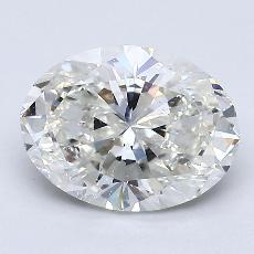 1.60-Carat Oval Diamond Very Good H SI1