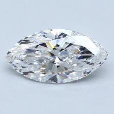 1.70-Carat Marquise Diamond Very Good D IF