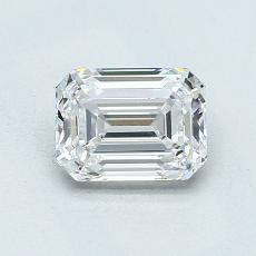1.01-Carat Emerald Diamond Very Good E VVS1
