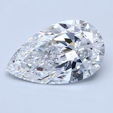 Recommended Stone #4: 1.25-Carat Pear Cut Diamond