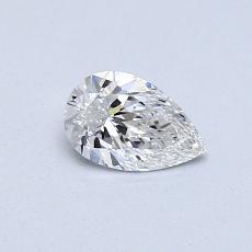 Piedra recomendada 3: Diamante en forma de pera de0.41 quilates