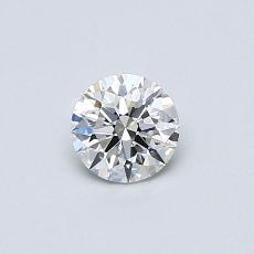 0.40 Carat 圓形 Diamond 理想 H VVS1