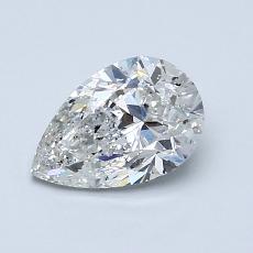 推荐宝石 3:1.00 克拉梨形切割钻石