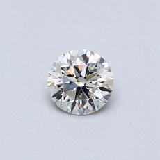 Piedra recomendada 1: Diamante redondo de0,31 quilates