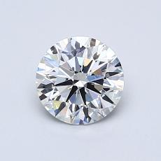 0.77-Carat Round Diamond Ideal E VS2