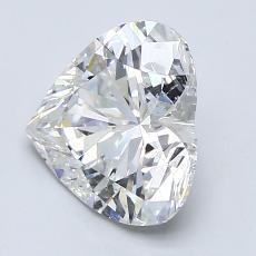 Piedra recomendada 1: Diamante con forma de corazón de 2.08 quilates