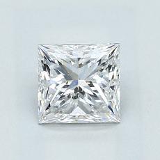 1.02 Carat 公主方形 Diamond 良好 E SI2