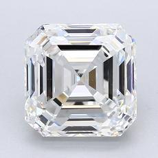 Pierre recommandée n°2: Diamant taille Asscher 2,51 carat