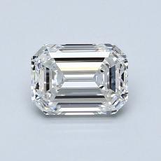 1.01-Carat Emerald Diamond Very Good F VVS1