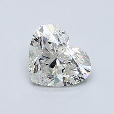 Piedra recomendada 1: Diamante con forma de corazón de 0.82 quilates