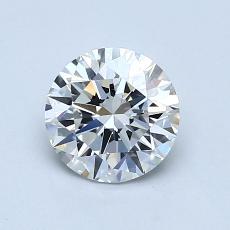 0.90-Carat Round Diamond Ideal F VVS1