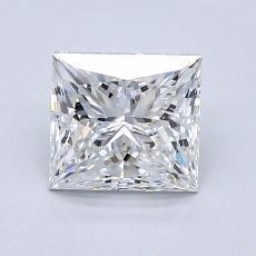 1.30 Carat 公主方形 Diamond 非常好 E VS1