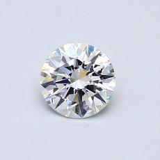 0.50-Carat Round Diamond Ideal E VVS2
