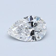 Recommended Stone #3: 0.63-Carat Pear Cut Diamond