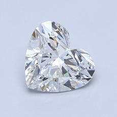 Recommended Stone #4: 1.03-Carat Heart Cut Diamond