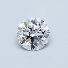 推薦鑽石 #2: 0.58 克拉圓形切割鑽石