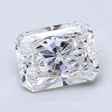 1,50-Carat Radiant Diamond Very Good E VVS2