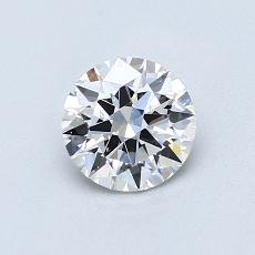 0,70-Carat Round Diamond Ideal E VS2