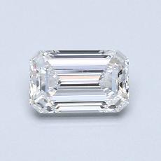 0.70-Carat Emerald Diamond Very Good E SI1