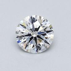 0,73-Carat Round Diamond Ideal D VS1