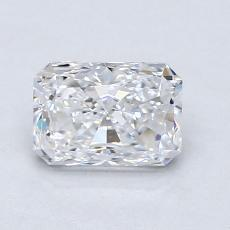 1.00-Carat Radiant Diamond Very Good D VVS1