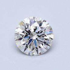 0.81-Carat Round Diamond Ideal D VVS2