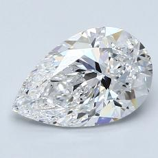2.01-Carat Pear Diamond Very Good D VS1