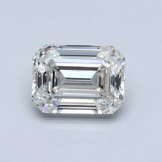 0.83 Carat Esmeralda Diamond Muy buena I IF