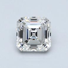 1.02 Carat Asscher Diamond Muy buena F VS1
