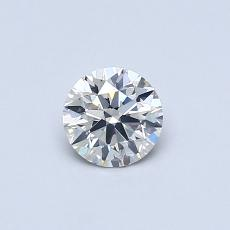 0,40-Carat Round Diamond Ideal J SI2