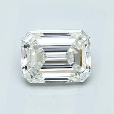 1.01-Carat Emerald Diamond Very Good H VVS2