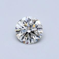 0.51-Carat Round Diamond Ideal J VVS2