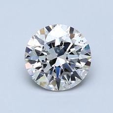 1.02-Carat Round Diamond Ideal J SI1