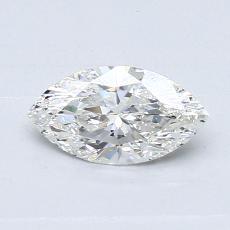 0,51-Carat Marquise Diamond Very Good G SI1