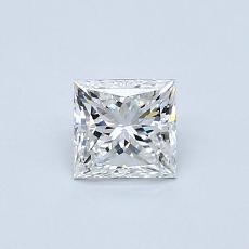 0.50 Carat Princesa Diamond Muy buena E VVS1