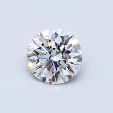 0.60-Carat Round Diamond Ideal D VS2