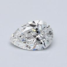 0.60-Carat Pear Diamond Very Good F VS1