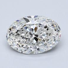 1.29-Carat Oval Diamond Very Good F SI2