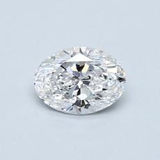 0.53 Carat 橢圓形 Diamond 非常好 D SI1
