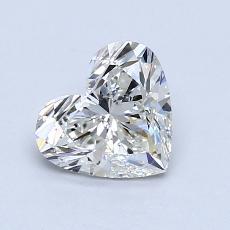 Piedra recomendada 1: Diamante con forma de corazón de 1.03 quilates