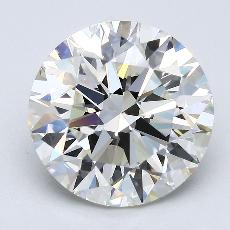 4.51-Carat Round Diamond Ideal J VVS2