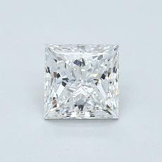 0.80 Carat Princesa Diamond Muy buena E VS1