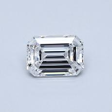 Recommended Stone #2: 0,53-Carat Emerald Cut Diamond