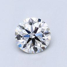 0.75-Carat Round Diamond Ideal D VS1