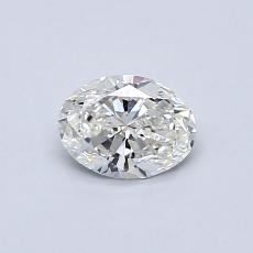 0.50 Carat 椭圆形 Diamond 非常好 G VS1