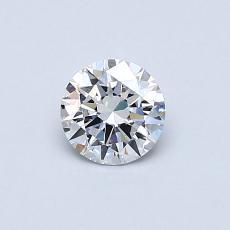 0.42 Carat 圓形 Diamond 理想 D VVS2
